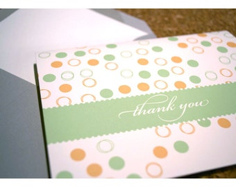 Thank You Notes with Confetti