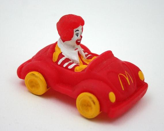 vintage ronald mcdonald vw bug red car yellow clown mcdonalds happy