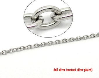 32' Stainless Steel Chain Opened Cable 4x3mm - 10M  - Ships IMMEDIATELY  from California - CH200
