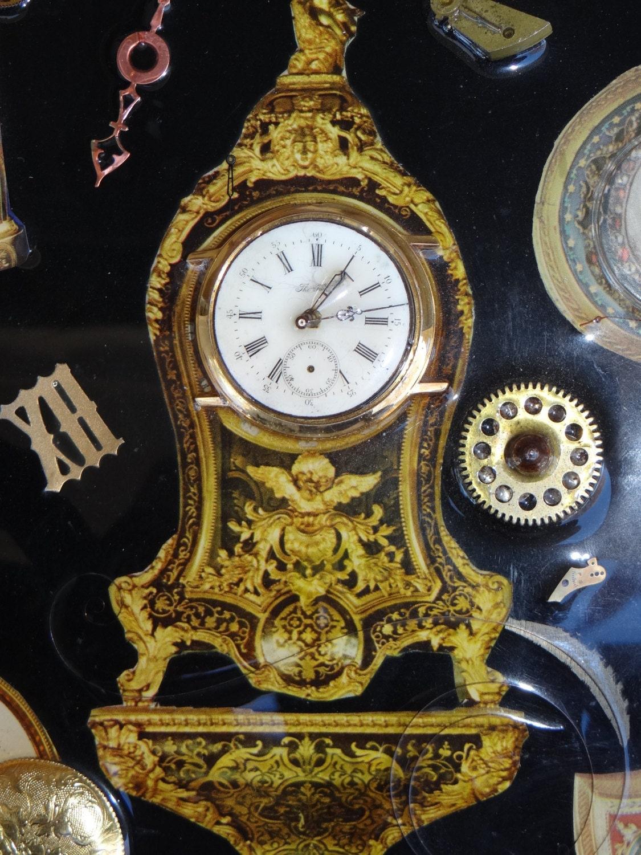 Vintage Gert Block Timepiece Collage Steampunk Clock Watch