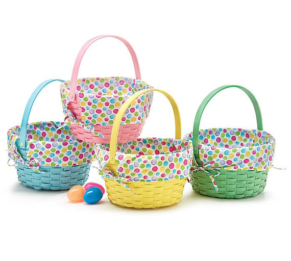 2 personalized easter baskets boy or girl polka by