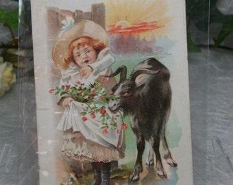 Vintage Trade Card - Spring - Fleischmann & Co's  Compressed Yeast