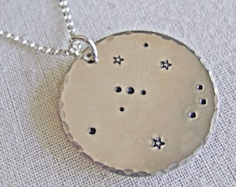 Orion constellation zodiac necklace. Sterling silver customizable constellation necklace. Orion necklace. Orion gift necklace. Zenned Out