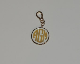 Fornash Gold RED Enamel Monogrammed Charm FREE SHIPPING
