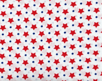 Fat Quarter, Stars, Freedom Fabric, Red and White Stars Fabric, Red Fabric, Star Fabric, 01360