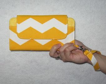 Chevron iPhone 6 Wallet Clutch Case Accessory...Cell Phone Wallet; Smart Phone Wristlet Wallet