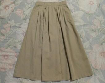 Womens Light Brown Skirt-Small