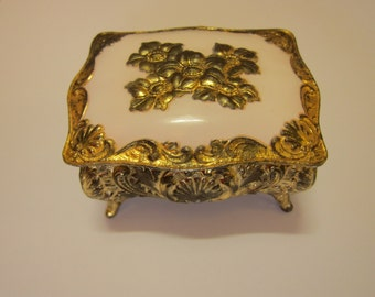 Vintage Art Nouveau Jewelry Box Casket