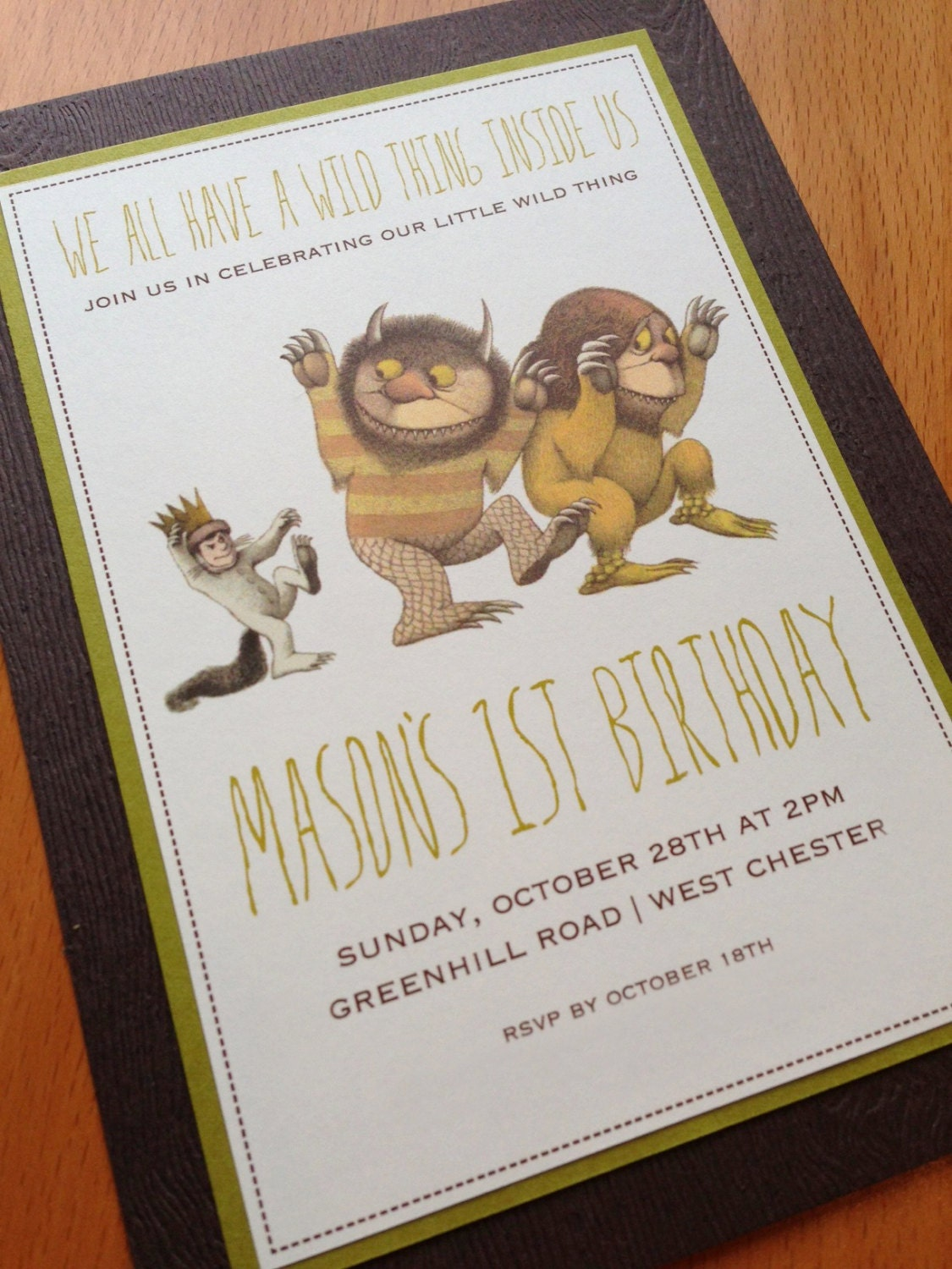 where the wild things are birthday invitation