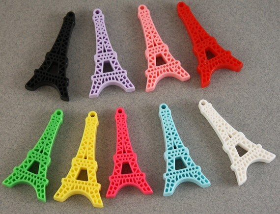 Super chic and kawaii Eiffel tower charms - 9 piece set (45mm) - MMK