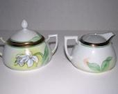 Bavaria china  sugar bowl and creamer