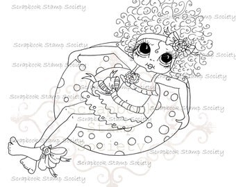 INSTANT DOWNLOAD Digital Digi Stamps Big Eye Big Head Dolls Messy Bessy IMG830 My Besties By Sherri Baldy