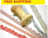 Crochet Trims 15 Yards, 3 Yards each, Cotton Nylon mixed Crochet Trim, 5 styles, No. L3 Bag Supply, Sewing Supply FREE SHIPPING