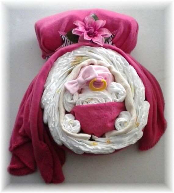 Baby Shower Diaper Cake Centerpiece Momma Belly