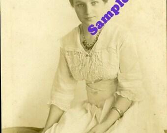 Instant Digital Download-Elizabeth-Vintage Studio Portrait  for framing