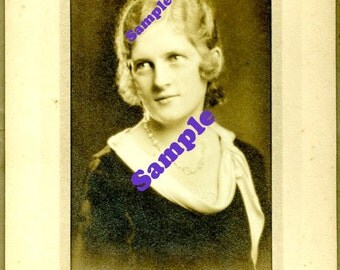 Instant Digital Download-Irene-Vintage graduation studio portrait