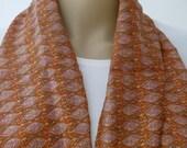 Silk scarf, Brown Scarf, Autumn Scarf