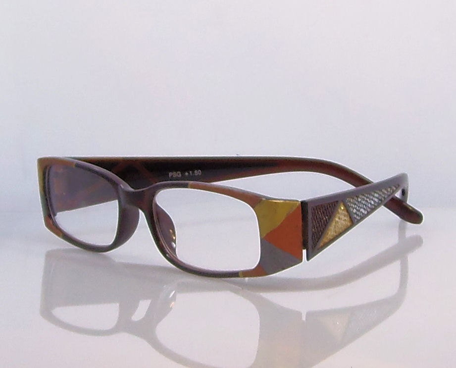 techno reading glasses 150 strength handpainted in by