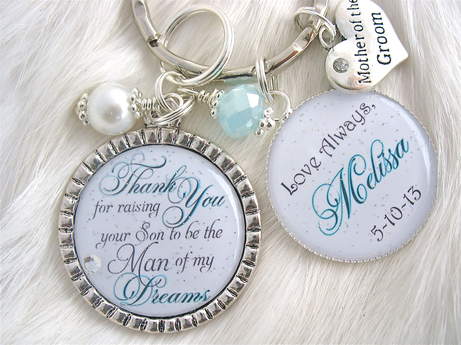 Mother Of The Groom Gift: Personalized MOTHER Of The GROOM Thank You For Raising The