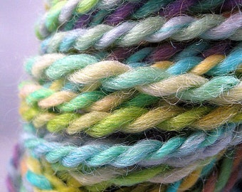 Handspun Romney Wool Yarn -- A Break In The Clouds, 90 yd.