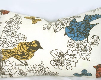 Thomas Paul Perch Multi - Decorative Pillow Cushion Cover - Accent Pillow - Throw Pillow - Natural, Bird