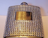Got Whiskey Engraved Ladies Clear Rhinestone 6oz Flask-Trademark Name-LSW Girls Original Design
