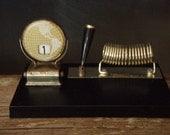 Vintage Desk Calendar - Pen & letter holder - alittlebitdusty
