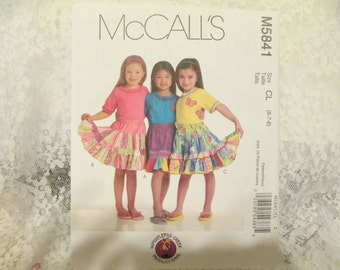 Childrens and Girls Skirts and Appliques, McCalls 5841 Sewing pattern, size 6-8