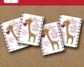 Boys Valentine Card | Giraffe Valentine | DIY PRINTABLE | Kids Christian, Scripture, Bible Valentine | Religious Card | Instant Download