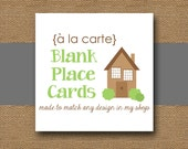 Made to Match Blank PLACE CARDS - DIY Printable - Personalize and Coordinate with Any Design in My Shop