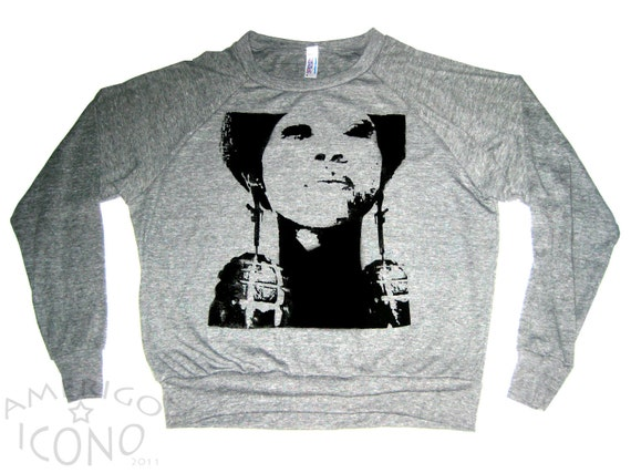 BOMBS & BEAUTY: Womens Athletic Grey Pullover