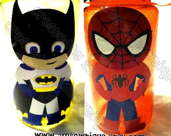 Personalized Superhero Kids Water Bottle