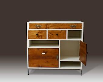 Vintage dresser white as Highboard by neuformat möbeldesign