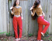 Vintage // Grunge Red 90's Jordache Jeans // High Waisted Denim Pants // Size 12