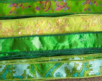 SALE! Silk Sari Ribbon, Silk Trim, 4 colors, A4