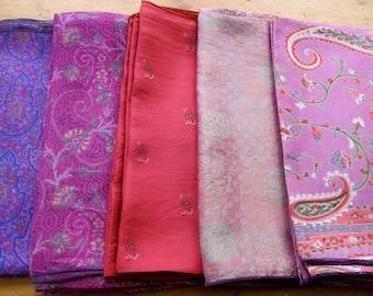 Silk Fat Quarters, Silk Fabric, Sari Silk FQ 12
