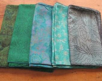 Silk Fat Quarters, Silk Fabric, Sari Silk FQ 8