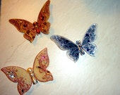 Butterfly decoration clip 3 pieces
