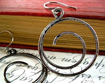 Oxidized Silver Earrings Oxidized Sterling Silver Earrings Hammered Sterling Silver Earrings Oxidized Silver Earrings Oxidized Jewelry Hoops