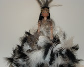Indian Doll/Small Indian Doll/Collectors Doll/ Feather Doll