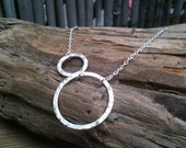 Maria Necklace / Hammered Silver Circles