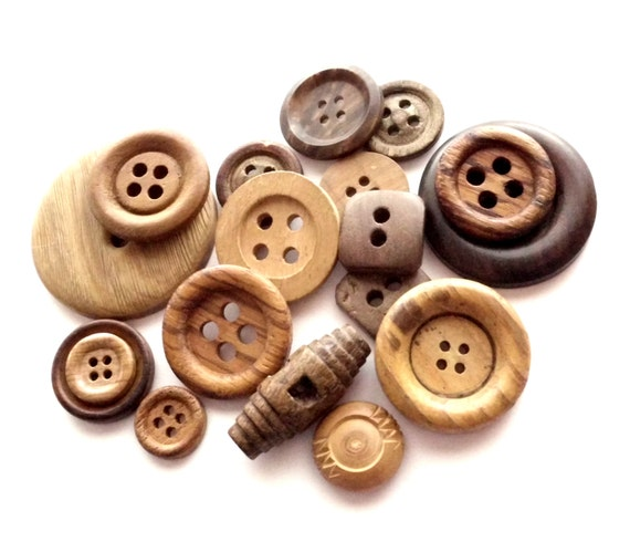 Vintage Wooden Buttons 9