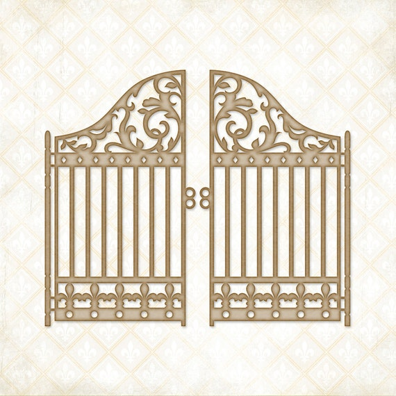 Blue Fern Studios Chipboard - Garden Gate