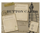BUTTON CARD Clipart Printable Download French Vintage Buttons Card Storage Diy Paper Crafts Instant Download Sepia k04