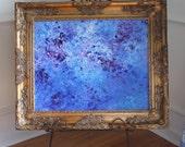 Abstract Art, Original Painting, Canvas Painting, Textured Wall Art, Framed Art,16X20 Canvas,Blue Painting,Modern Art,Impressionist,Art Deco