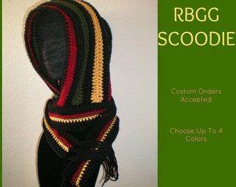 RBGG Scoodie - Hooded Scarf - Hoodie - Rasta - Senegal - Africa