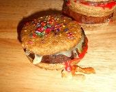 Gourmet  Dog Treats, Bully Burgers, Medium Dog Treats Small Dogs,Meat Filled ,Vacuum sealed 2