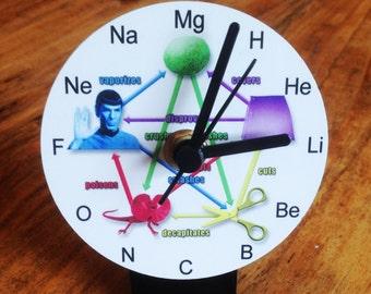 Big Bang Rock Paper Scissors Clock for work desk or table top