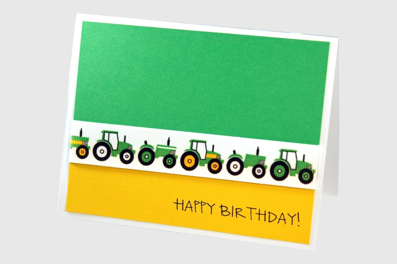 Boy birthday card tractor birthday card – Tractor Birthday Cards