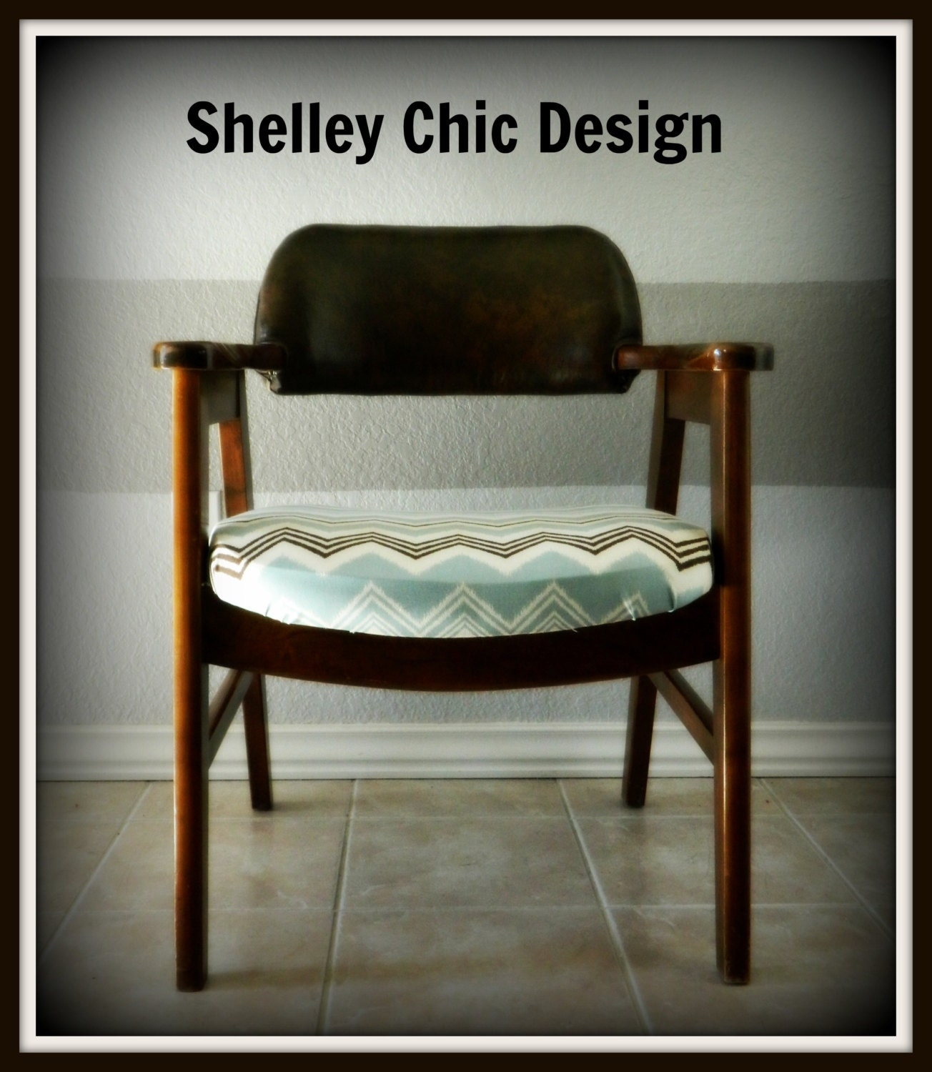 Mid Century Wood Arm Chair/Danish Modern By Shelleychicdesign. Full resolution  file, nominally Width 1304 Height 1500 pixels, file with #A86B23.
